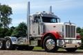Картинка небо, грузовик, хром, передок, truck, тягач, трак