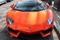 Картинка отражение, Lamborghini, суперкар, передок, orange, Aventador