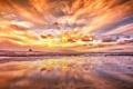 Картинка небо, пейзаж, закат