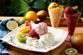 Картинка лимон, киви, мороженое, лайм, фрукты, манго