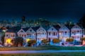 Картинка город, дома, вечер, улица