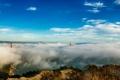 Картинка небо, облака, мост, город, туман, Сан-Франциско, Золотые ворота