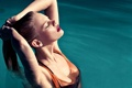 Картинка вода, девушка, обои, модель, бассейн, wallpaper, красотка