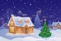 Картинка зима, шарики, снег, украшения, праздник, Новый Год, Рождество