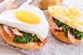 Картинка завтрак, яичница, eggs, бутерброды, sandwiches, Breakfast
