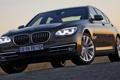 Картинка BMW, небо, передок, 750i, фары, седан, БМВ