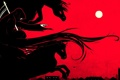 Картинка город, смерть, луна, кони, арт, коса, охота