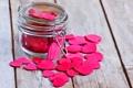 Картинка доски, Сердце, банка, сердечки, розовые