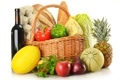 Картинка овощи, фрукты, корзина