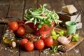 Картинка Anna Verdina, сыр, овощи, соль, масло, горох, помидоры