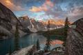 Картинка закат, горы, природа, озеро