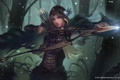 Картинка девушка, лук, лучница, стрела, archer