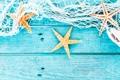 Картинка сетка, ракушки, морские звезды