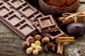 Картинка шоколад, сладко, орехи, корица, гвоздика