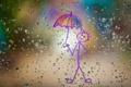 Картинка стекло, капли, рисунок, Rain Rain, Go Away