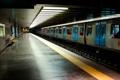 Картинка метро, Лиссабон, станция, поезд
