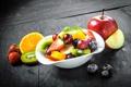 Картинка тарелка, фрукты, fresh, десерт, fruits