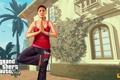 Картинка йога, Grand Theft Auto V, gta5, аманда
