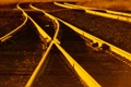 Картинка закат, рельсы, железная дорога