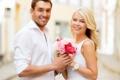 Картинка любовь, радость, счастье, пара, summer, happy, flowers