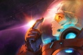 Картинка девушка, космос, скафандр, Stargazer