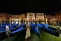 Картинка ночь, огни, Италия, Венеция