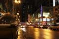 Картинка ночь, город, огни, небоскребы, Чикаго, Иллиноис