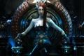 Картинка девушка, металл, арт, трон, статуэтки, Wen-JR