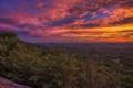 Картинка закат, облака, долина, лес, небо