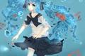 Картинка девушка, рыбки, пузыри, арт, форма, школьница, vocaloid