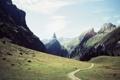 Картинка дорога, замок, гора