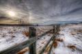 Картинка зима, поле, забор