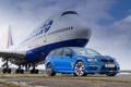 Картинка Синий, Самолет, Машина, Boeing, Vauxhall, VXR8, 747