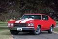 Картинка дорога, деревья, красный, купе, Chevrolet, Шевроле, Coupe