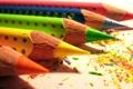 Картинка оранжевый, синий, красный, жёлтый, карандаши, зелёный