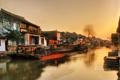 Картинка река, дома, Китай