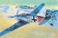 Картинка war, drawing, german aircraft, art, bf 109, german fighter, painting