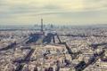 Картинка небо, Франция, Париж, здания, горизонт, Эйфелева башня, skyline