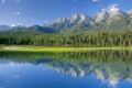 Картинка лес, горы, озеро, Канада, национальный парк