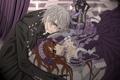 Картинка лепестки, кинжал, Юки, рыцарь-вампир, Зеро