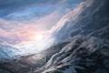 Картинка зима, снег, горы, арт