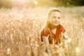 Картинка поле, лето, настроение, девочка