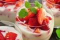 Картинка ягоды, еда, клубника, десерт, сладкое, cream, dessert