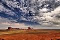 Картинка небо, облака, скалы, пустыня
