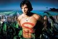 Картинка поле, ночь, Smallville, ферма, Тайны Смолвиля, Том Уэллинг, Кларк Кент