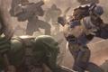 Картинка warhammer, бой, orc, война, Warhammer 40K, space marine