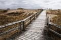 Картинка песок, мост, трава