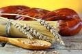Картинка стол, зерно, хлеб, злаки, спагетти