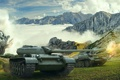 Картинка танк, USSR, СССР, танки, Т-54, WoT, Мир танков