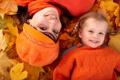 Картинка листья, осень, девушка, улыбки, парк, ребёнок, девочка